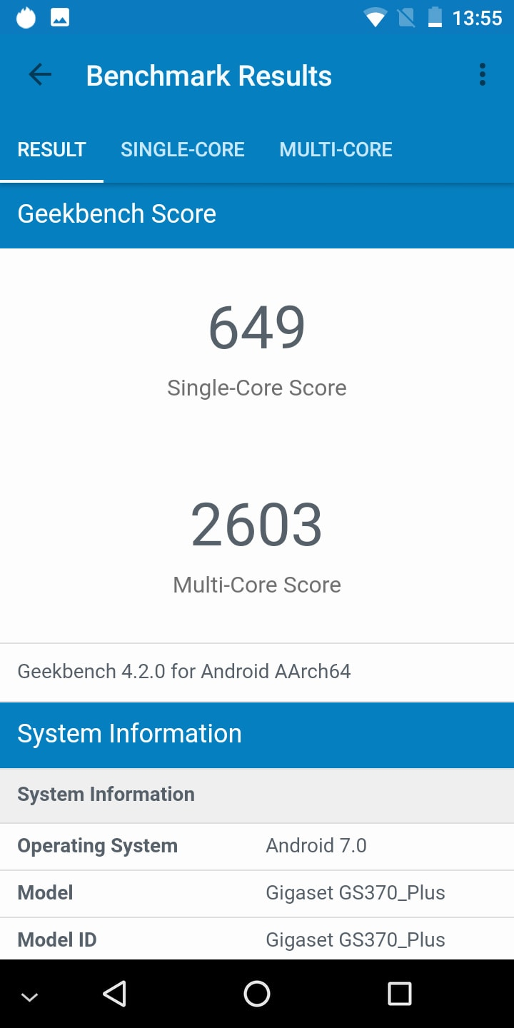 Gigaset GS370 Plus Benchmark 3