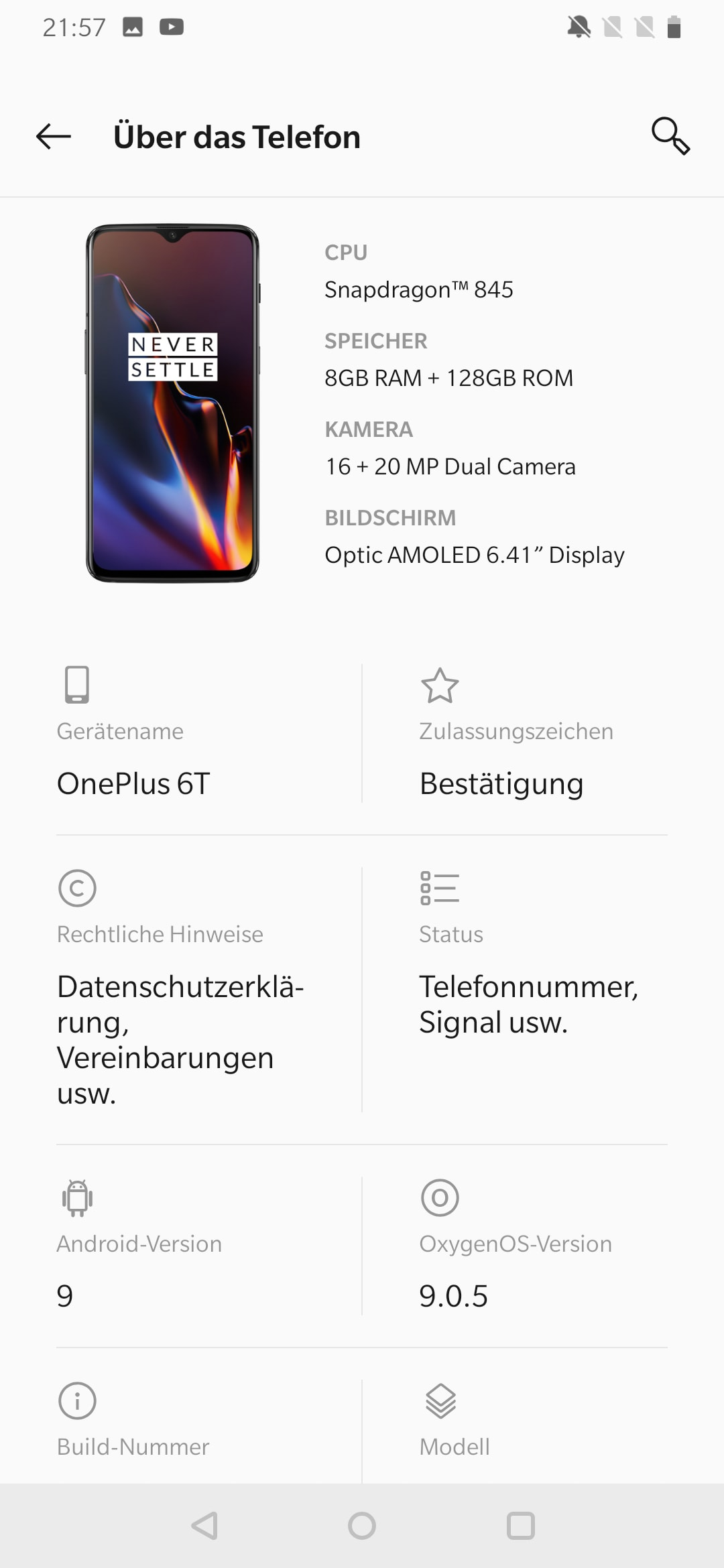 One Plus 6T Software 4