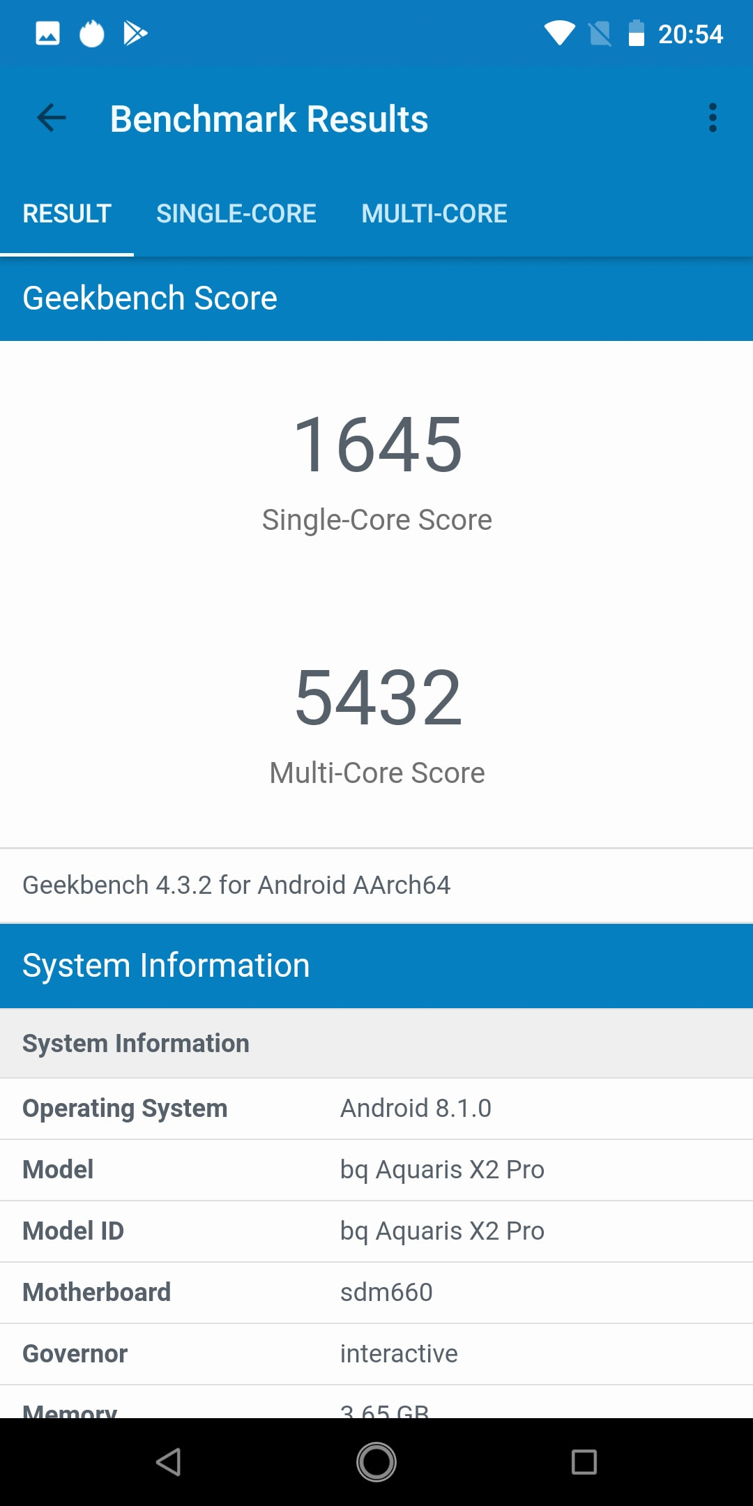 BQ Aquaris X2 Pro Benchmarktests 2