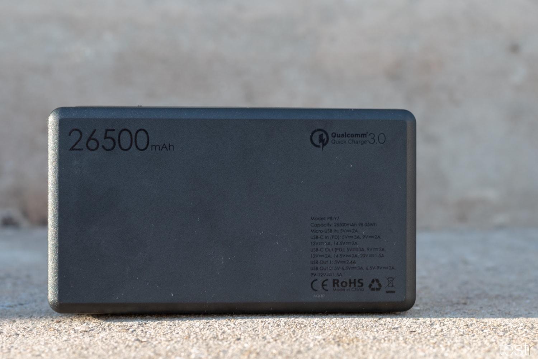 Rückseite AUKEY USB-C Powerbank 26500mAh