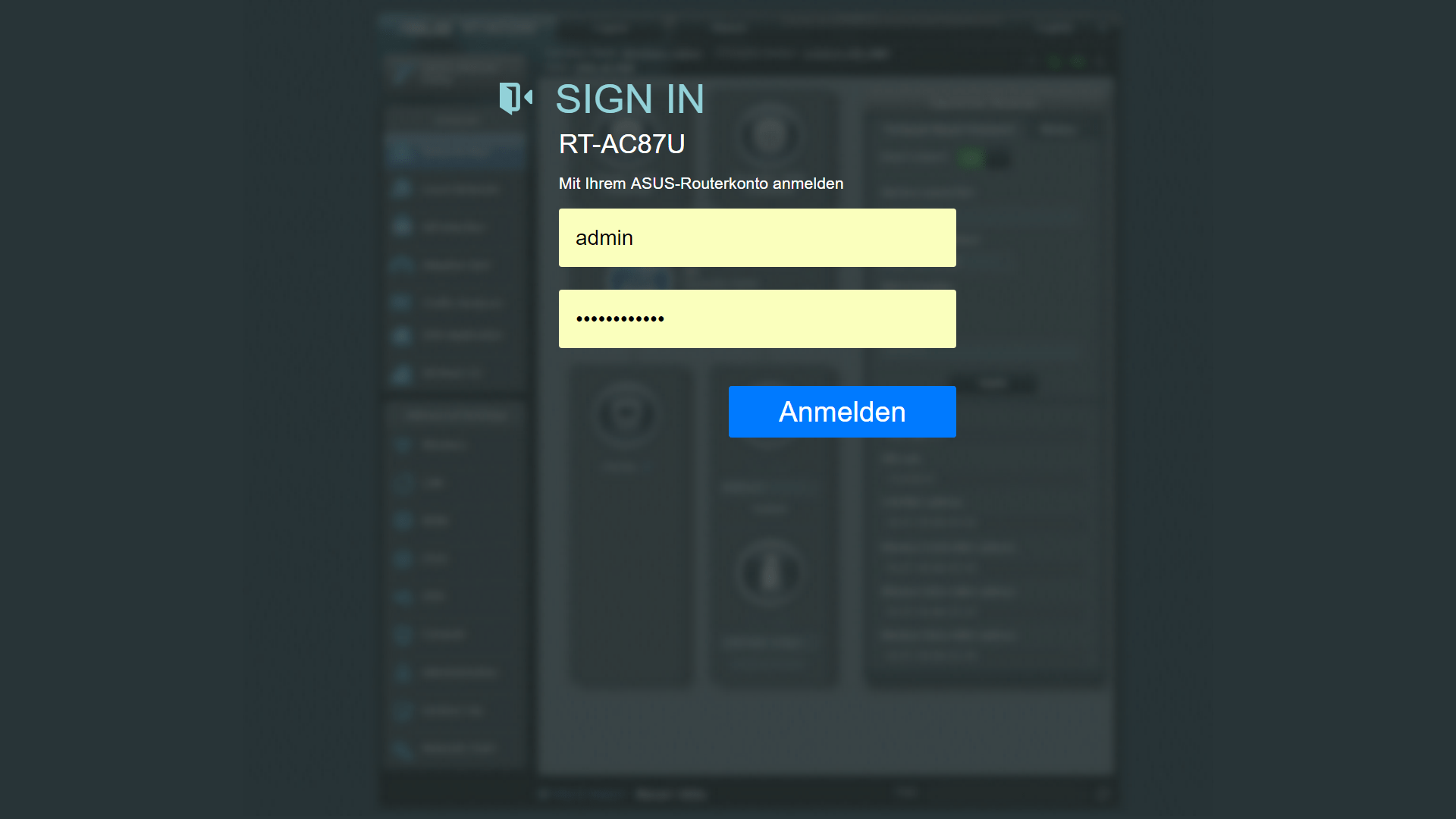 Login-In Web GUI